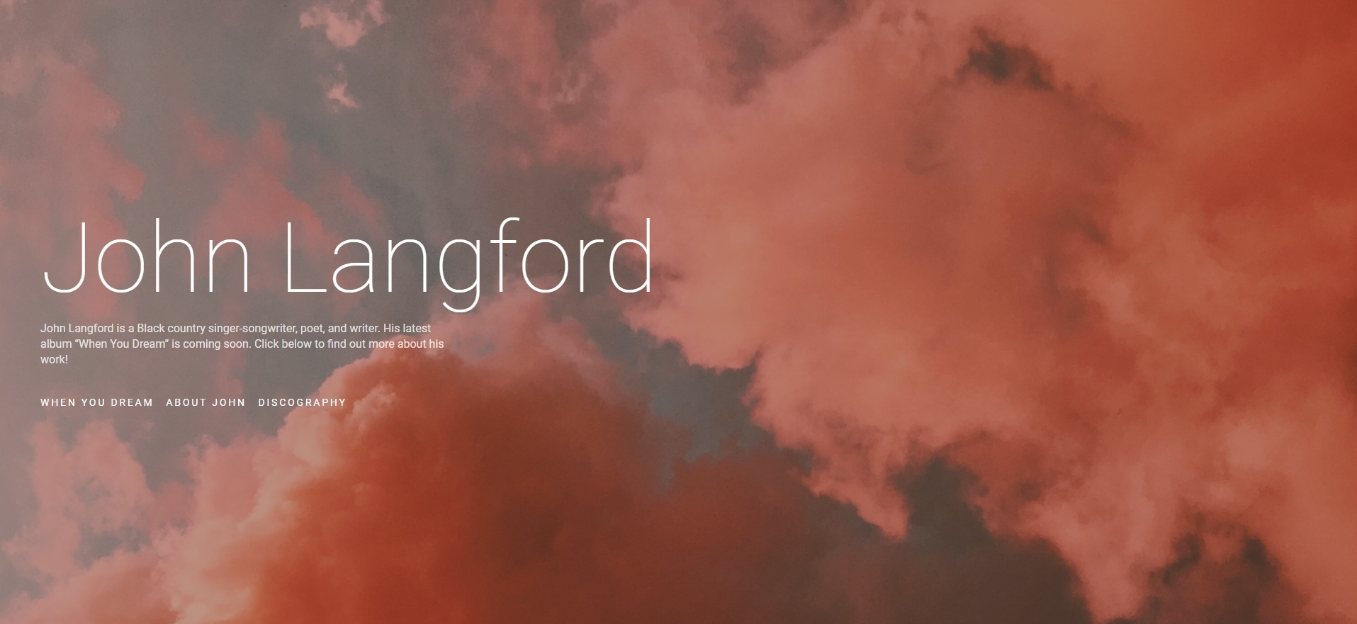 John Langford - Singer-songwriter portfolio and presskit website
