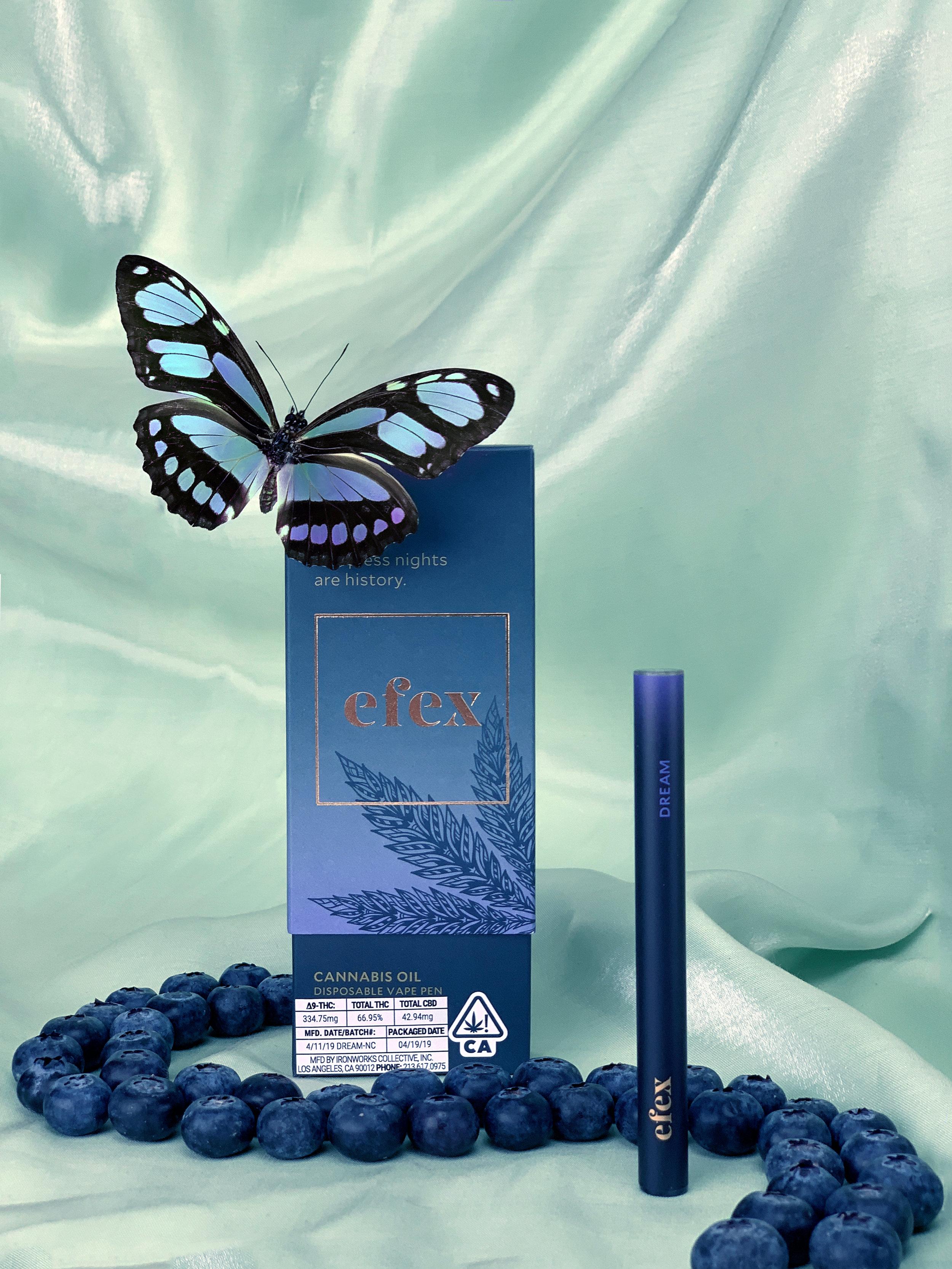 The berry-forward 'Dream' vape pen from Efex.