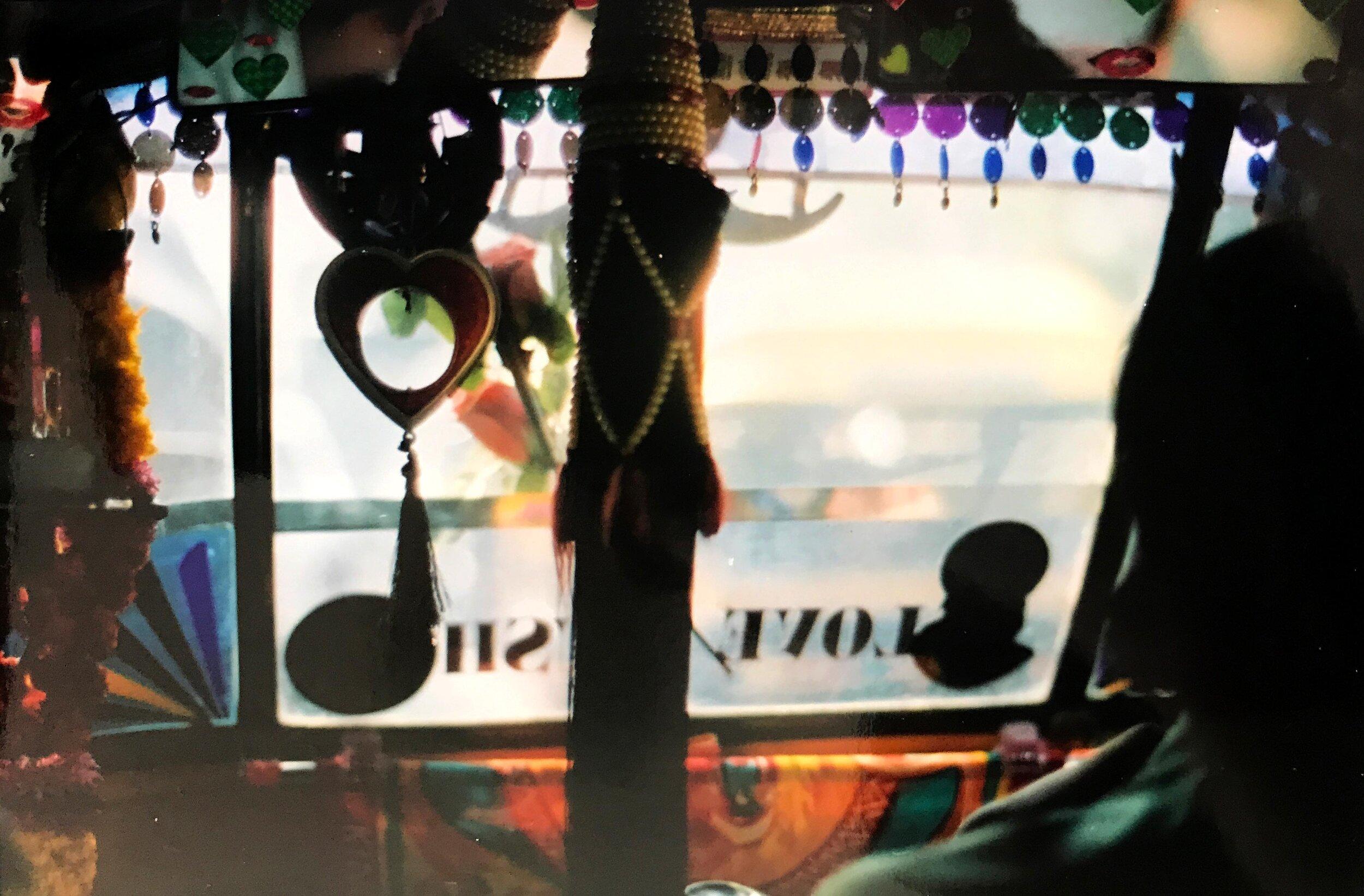Inside of a rickshaw in Mumbai