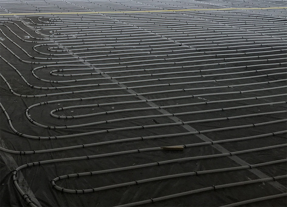 Underfloor Heating - PC Flooring frequently install underfloor heating systems as part of the floor screeding process