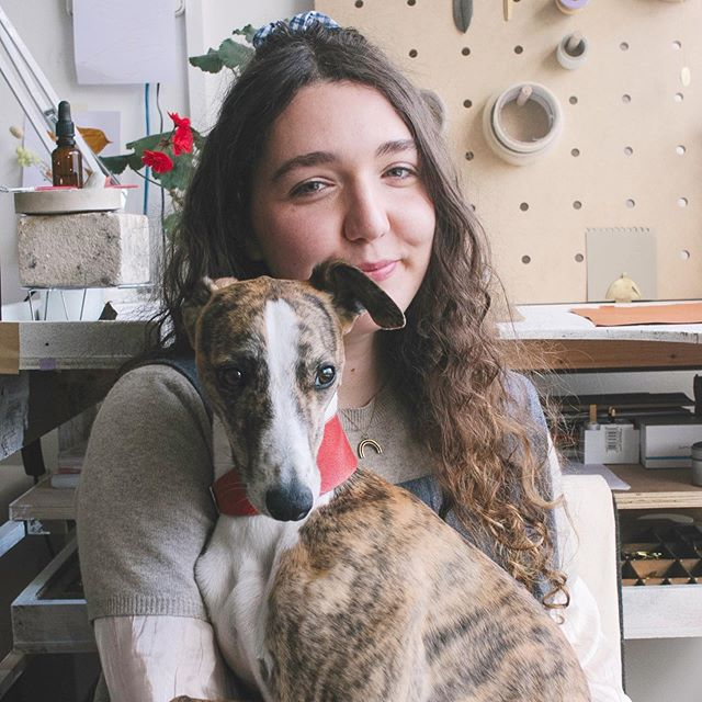 """• Freya.im • Next up we introduce you to designer number 15, @freya.im  Isn't her doggo cute! Have a wee flick through her gorgeous pictures to see the sorts of delights she'll have and a read about her below... • """"I make jewellery that is playful, informal and ethical from my Glasgow Studio. I mostly use brass, a more sustainable material than precious metals as it is an alloy typically made from recycled metals. Freya.im is an evolving collection of informal wearable jewellery ethically made in Glasgow."""" • Saturday 1st June 11am-4pm Civic House G4 9RH • @flowers_vermilion Ikebana workshop is now SOLD OUT! All other workshops are limited. • #spotdesignmarket #homesandinteriorsscotland #glasgowlife #glasgow #glasgowmarket #glasgowartist #whatsonglasgow #glasgowdesign #glasgowlife #glasgowlifestyle #peoplemakeglasgow @glasgowlive @theskinnymag @stv.news @visitscotland #glasgowflowers @sheisfiercemag @thenoisygirlsclub @thelistuk @boomsaloon @homesints @hoodmagazine @glasgowist @theheraldscotland #iloveglasgow #glasgowevents #ilovegla @ion_magazine @discoverglasgoworg @stvcreative @creativescots"""