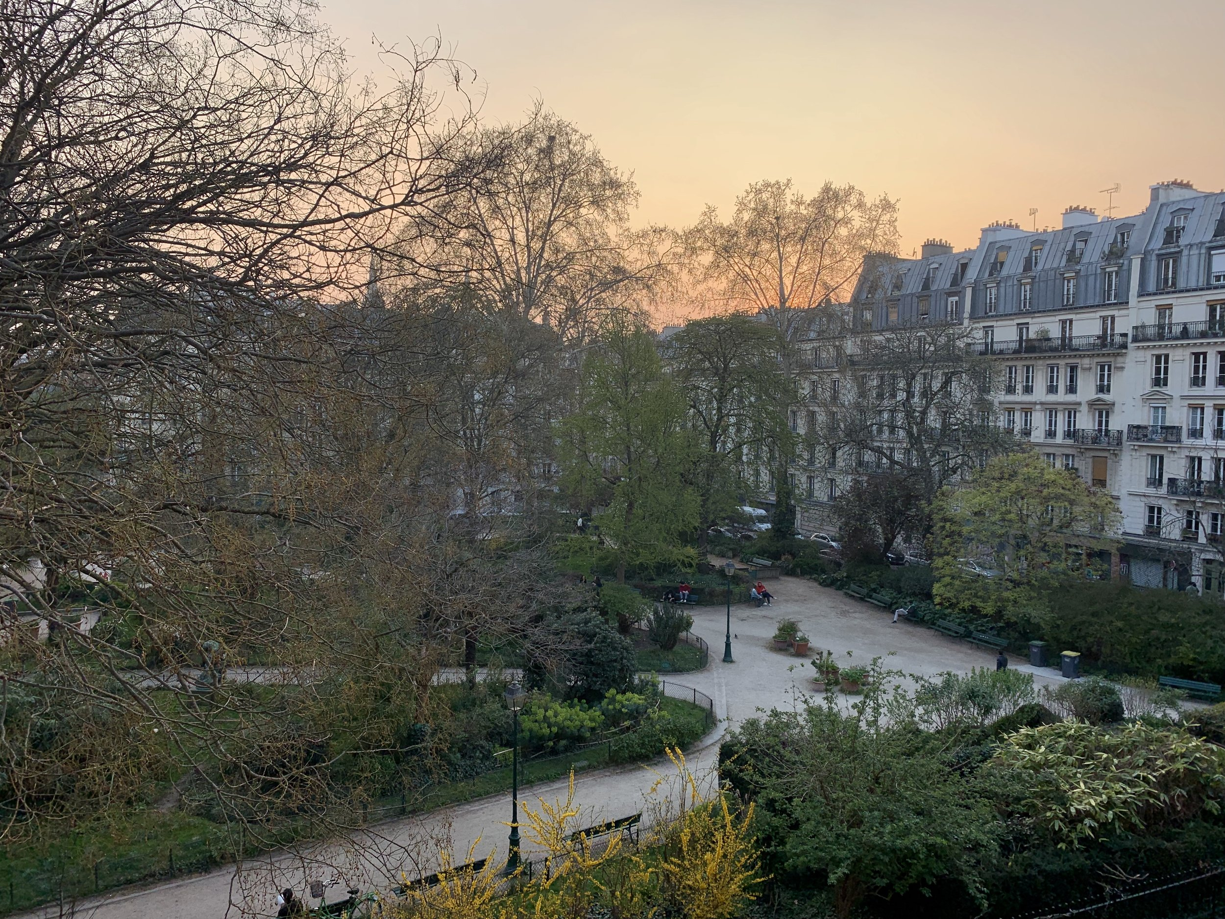 Early April Sunset in Paris