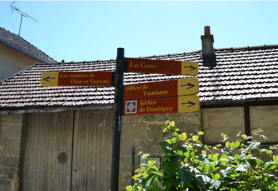 Directional signs in Auvers su Oise
