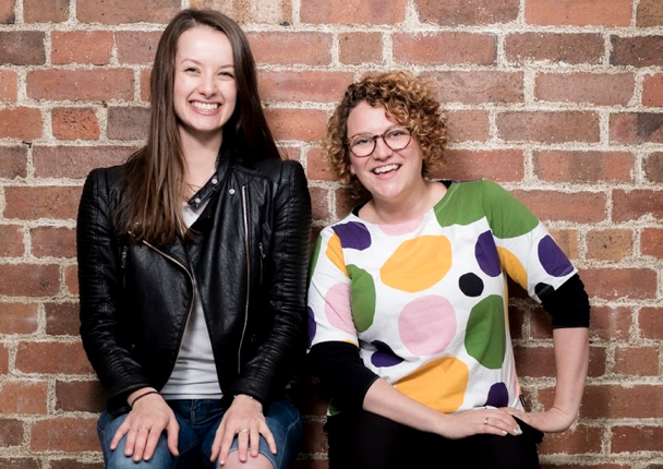 Kate (right) and Clare (left) have very strong legs to be able to hold this pose.