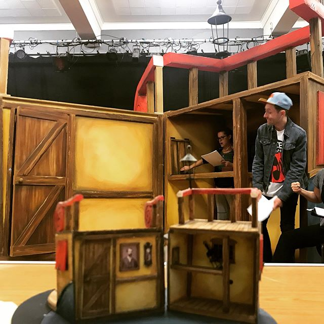 From model box to pirate ship! Award winning @rebeccabrower 's design is a joy! The crew are clambering all over it, and almost ready to welcome you aboard the Black Hole! #piratecruncher