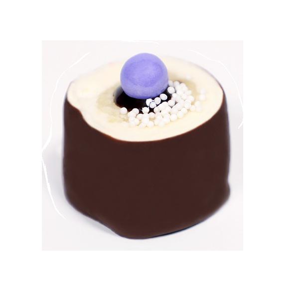 YEllow Vanilla - Yellow Cake, Chocolate Ganache, Rolled in Vanilla Buttercream Frosting
