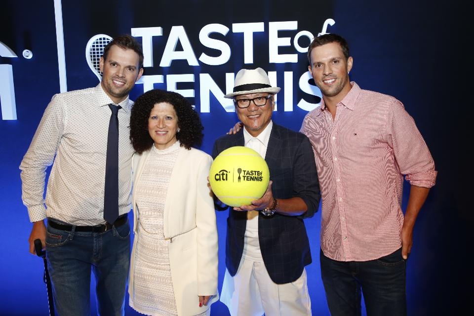 Bob Bryan, Michele Imbasciani, Chef Morimoto, Mike Bryan | THE CITI TASTE OF TENNIS | Forbes