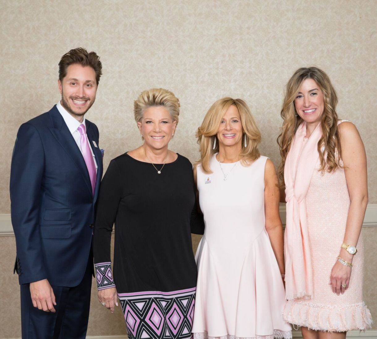 From left to right: Brad Jarol, Joan Lunden, Loren Palmer, and Julie Lampert at the Fall Benefit Luncheon on October 25, 2016. (Photo courtesy of Sheri Whitko Photography)