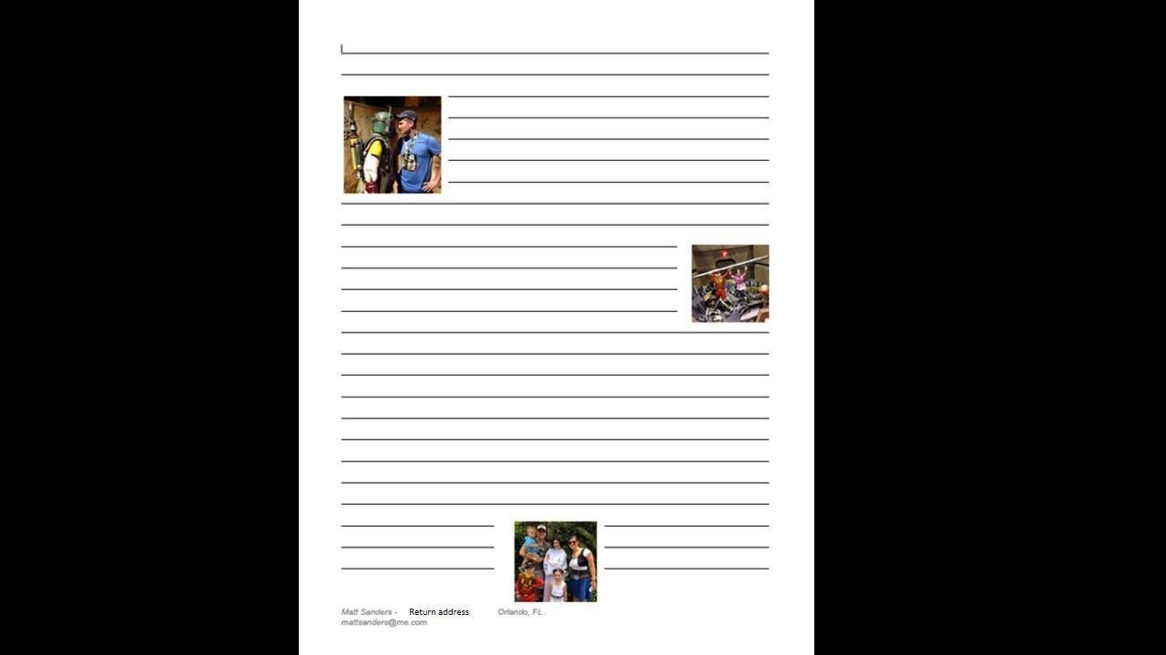 An example of my LOR page before I write…