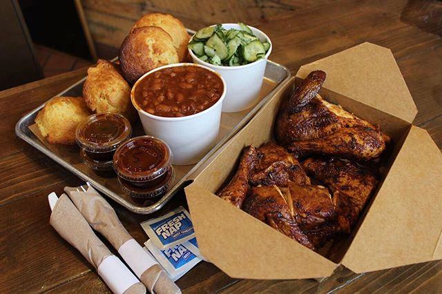 Rainy days are perfect for BBQ! Pick up our Winner Winner, Chicken Dinner family meal to-go! Order online or call us at (323) 254-4227 ☎️🔥