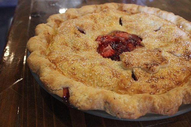 Did someone say Pi Day? Visit us today and enjoy a slice of our favorite, Strawberry Rhubarb pie. 🥧 Happy #PiDay