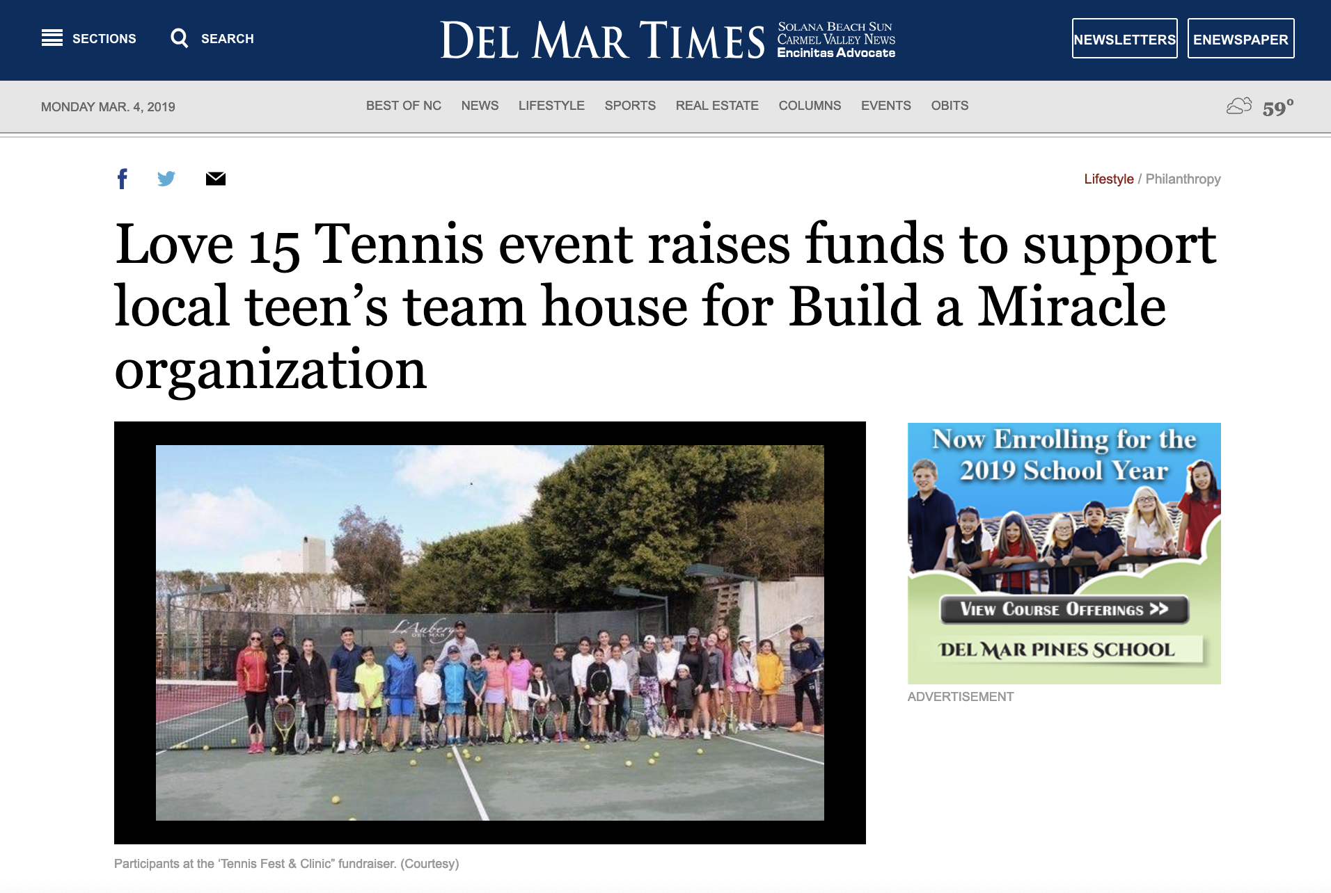 Del Mar times feature