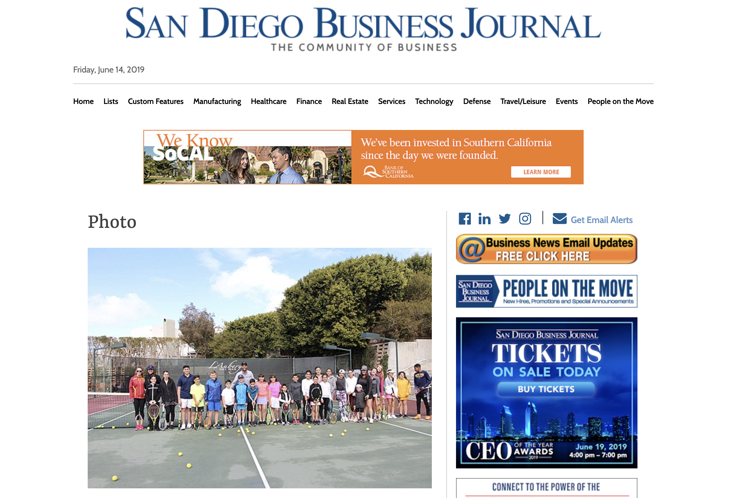SAn diego business journal feature