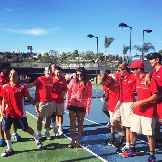 That winning feeling! ⠀⠀ ⠀⠀ I've been a tennis coach at Cathedral Catholic High School for 7 years now and head coach for 2 seasons. I love being able to work with these high school students and celebrate every win, even when this happens. 😂 ⠀⠀ #lovefifteentennis #sandiegotennis #sdtennis #tenniscoach #tennislessons #tennispro #tennisdrills #tennis #sandiegotenniscoach #tenniscourt #tennislife #highschooltennis #cchs #rolldons