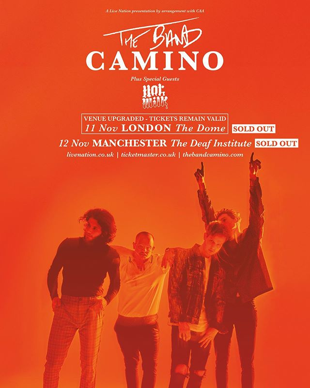 hi Manc and London we are doing two lil parties with @thebandcamino sorry they're sold out but if you got tickets see you there for a right good time yhyhyhyhyh. 🥛🔥 🛸🛸🛸