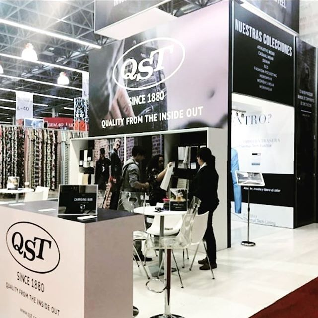 At @intermoda ? Stop by to visit our mini innovation lab to see our latest offers in tech components that focus on innovation you can feel. Stands 2095, 2097, 1094, and 1096.  #qst #intermoda2019 #intermoda #garmentindustry #tradeshow #fashiontradeshow #fashionbrand #fashionmanufacturer #fashiontextiles #textiledesign #apparelindustry