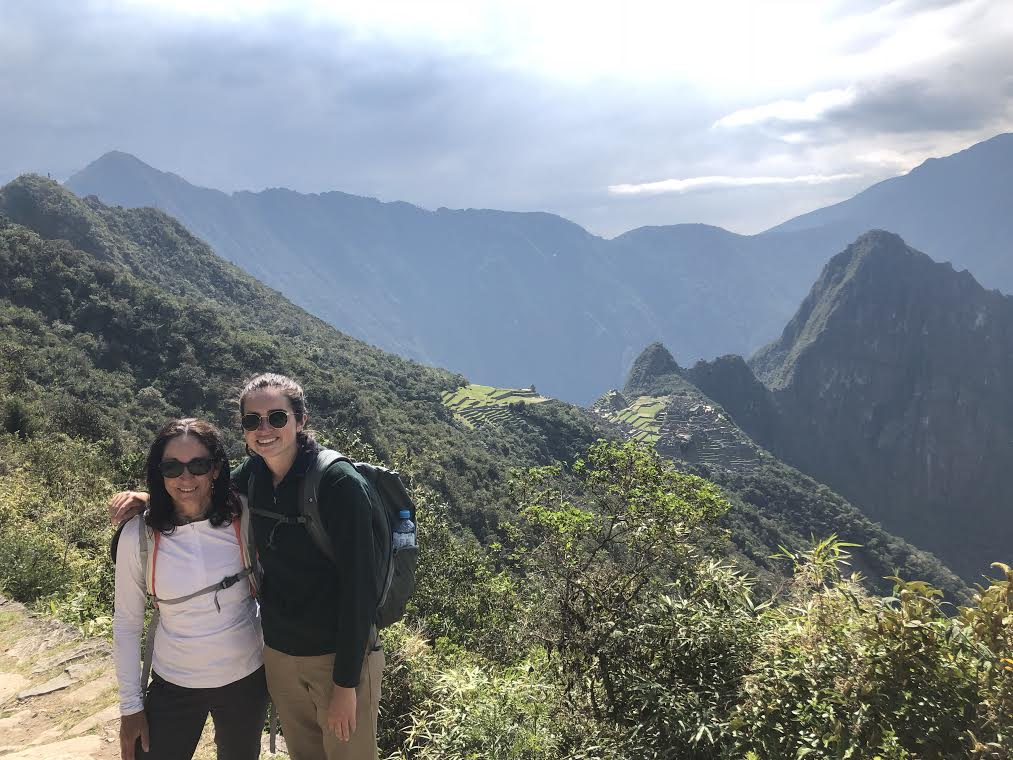 My mother and I after hiking the Inca trail