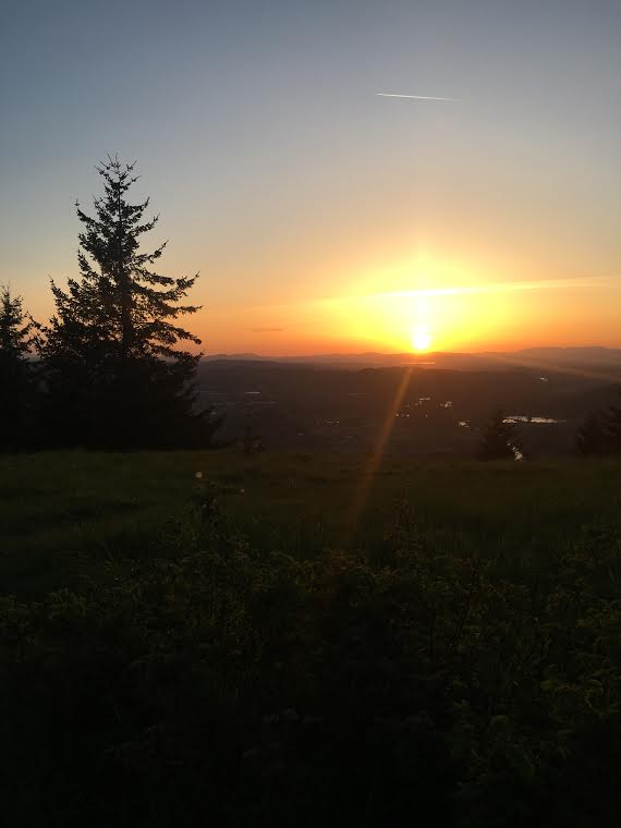 Sunset at Mt. Pisgah