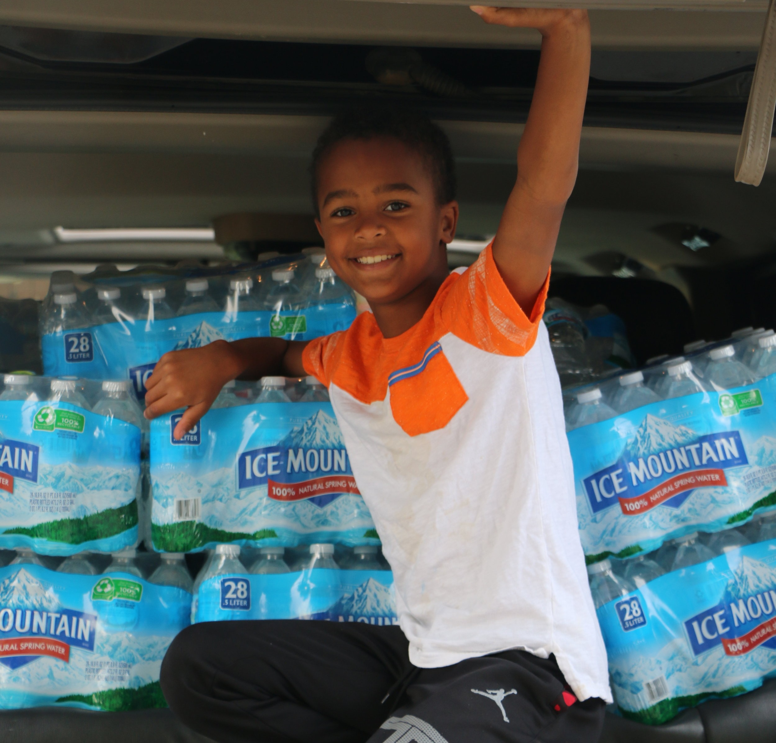 Jaiden collects donations for Puerto Rico - It took one billboard with a message of a need for food and water and Jaiden Henry was on a mission to collect truck fulls of food and water to be shipped to Puerto Rico to assist hurricane survivors.