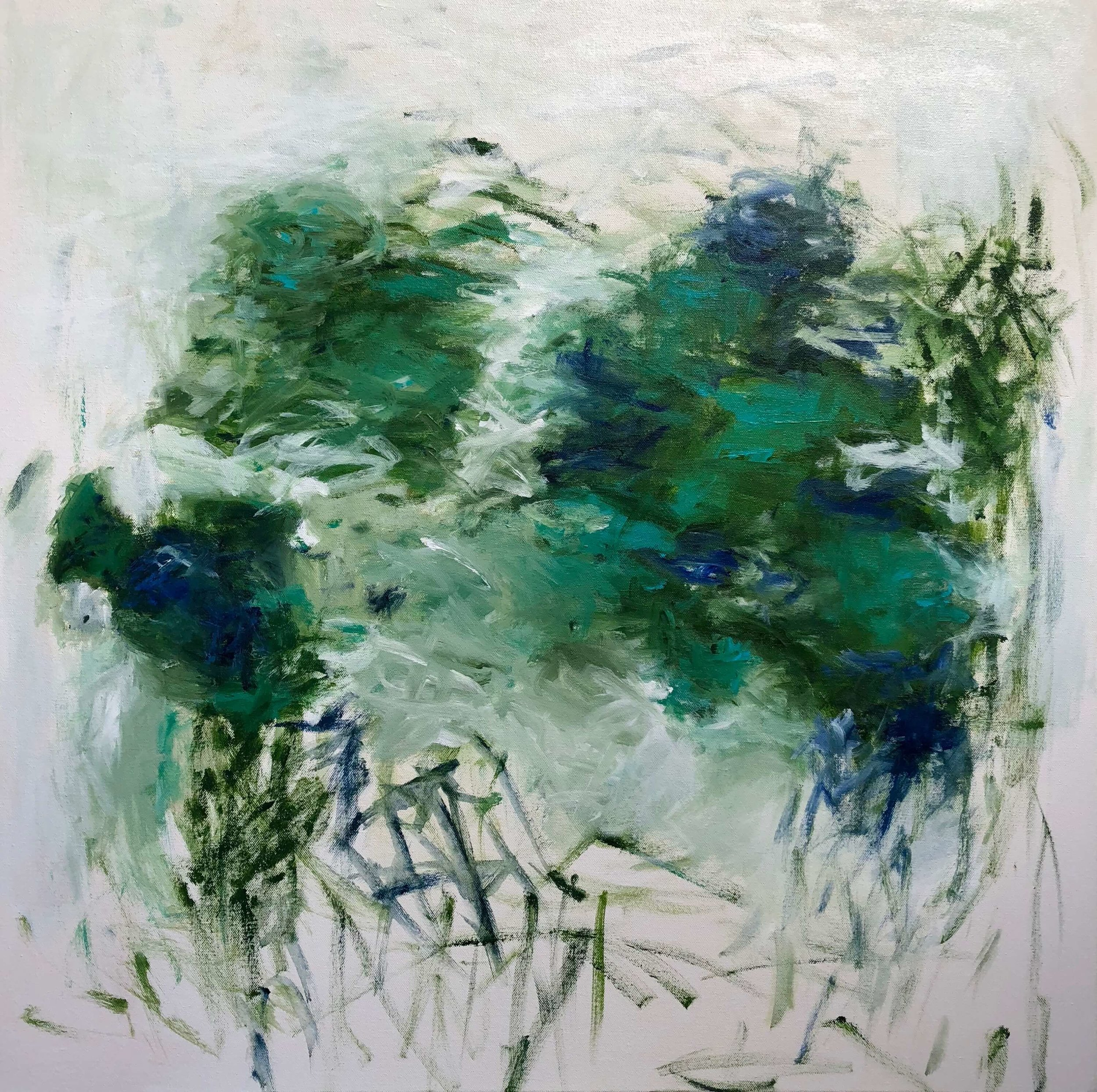 """Whispering Waters   30"""" x 30""""  acrylic on canvas"""