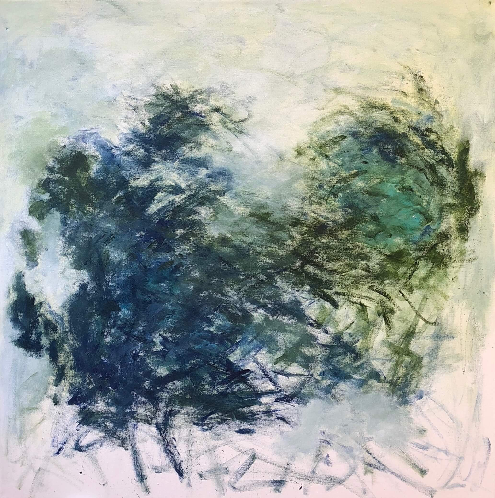 """Ocean Deep   30"""" x 30""""  acrylic on canvas"""
