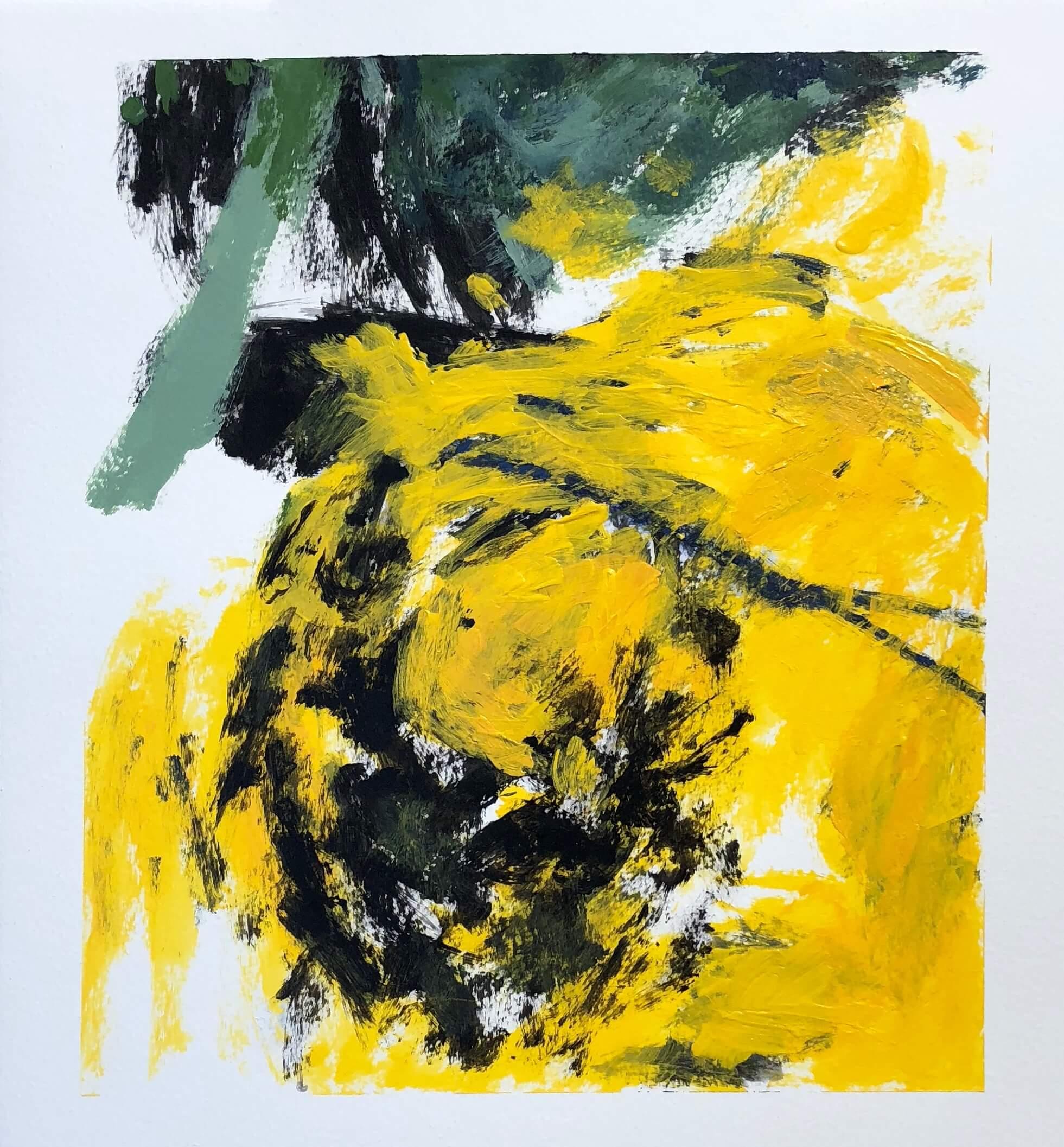 "Yang   11"" x 14""  acrylic on paper"
