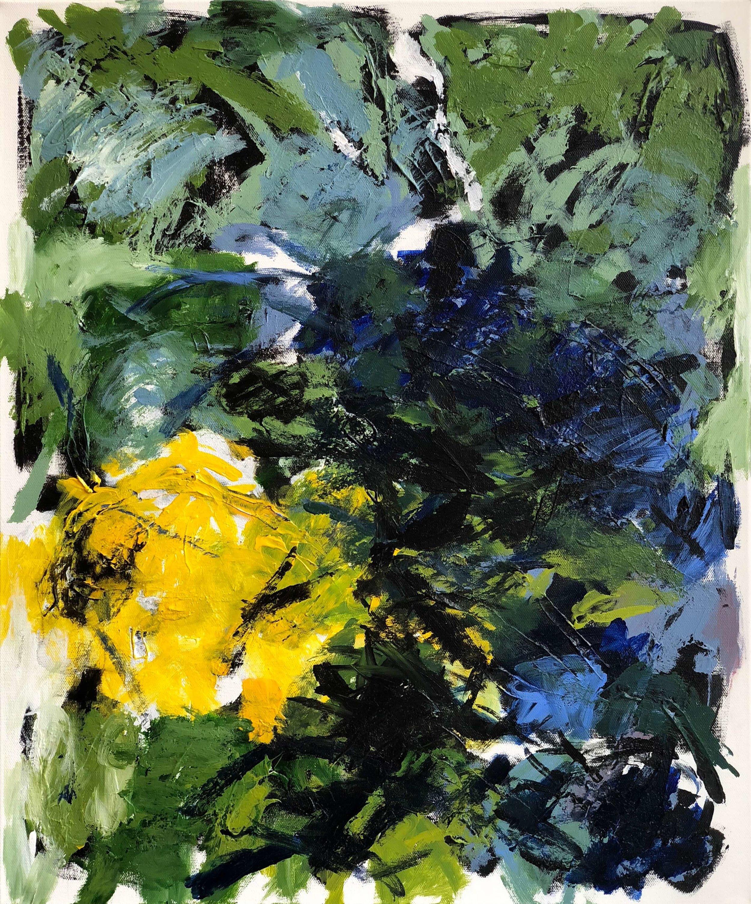 """Follow the Lights #1   20"""" x 24""""  acrylic on canvas"""