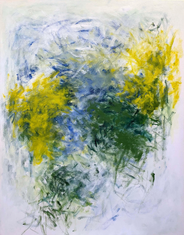 """Daffodils   22"""" x 28""""  acrylic on canvas"""