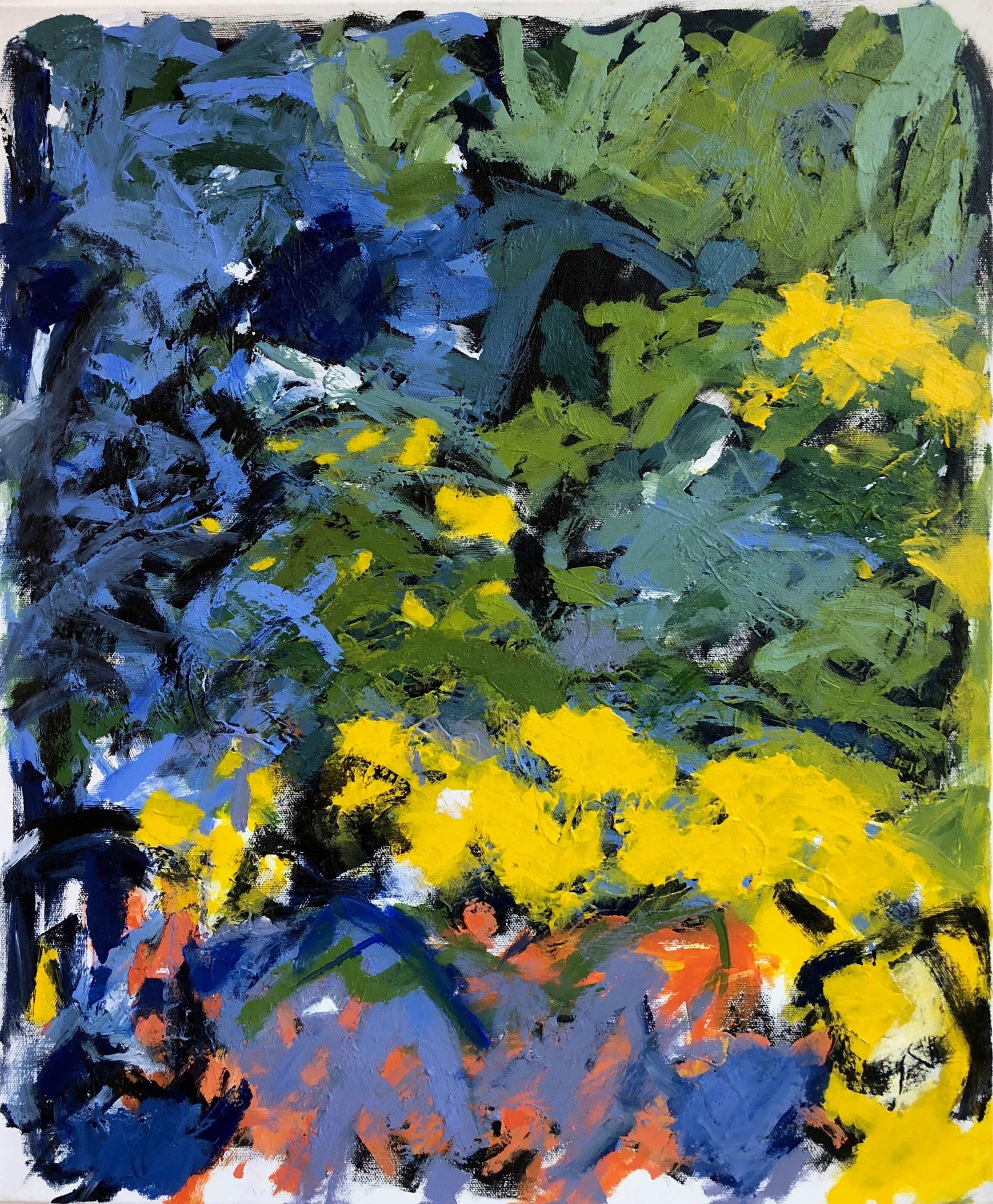 """Follow the Lights #2   20"""" x 24""""  acrylic on canvas"""