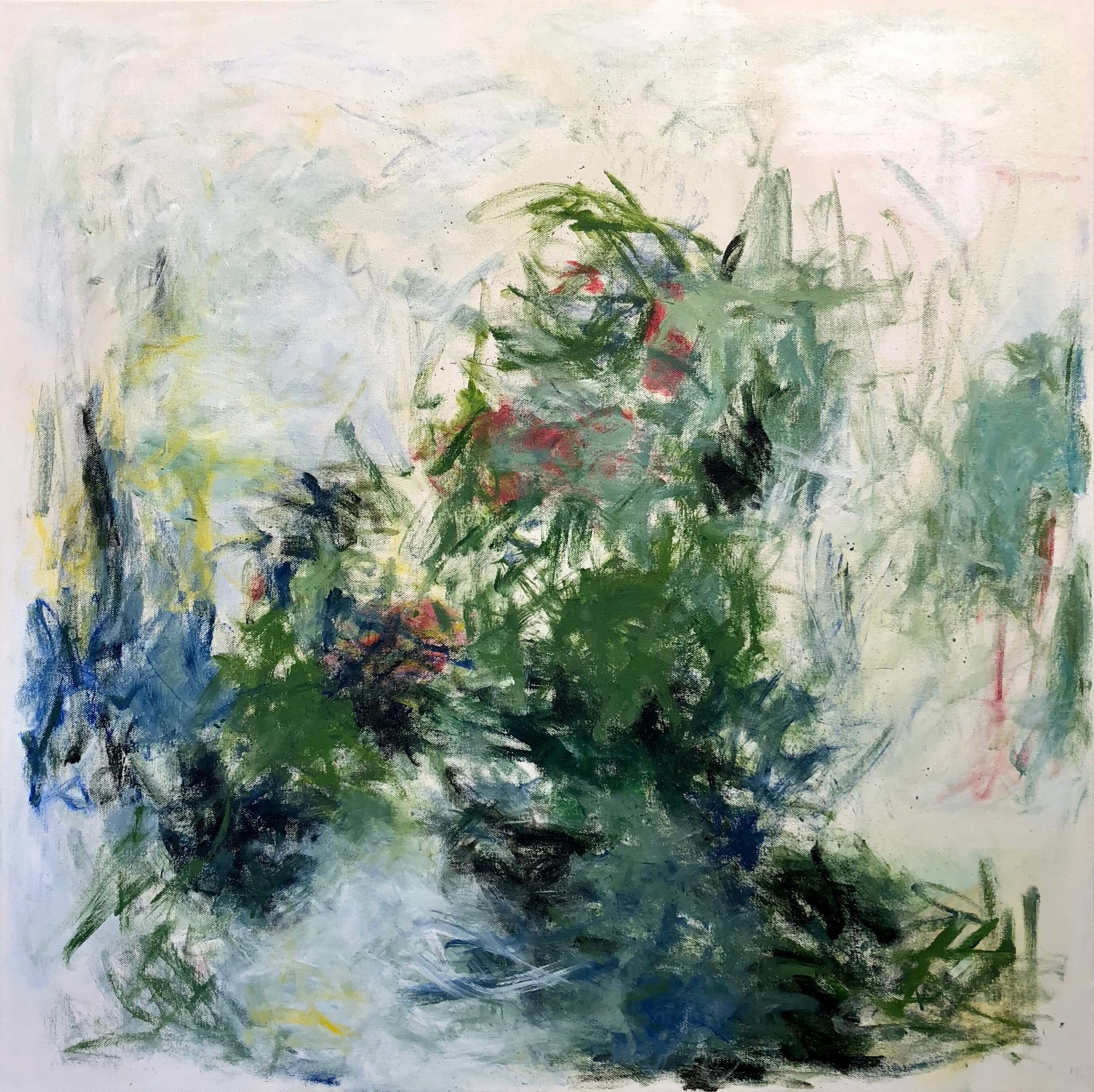 "Untamed Garden   30"" x 30""  acrylic on canvas"