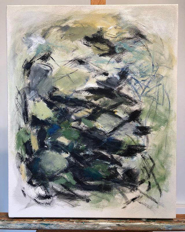 Small study on canvas . . . . . . #abstractart #acrylicpainting #pdx #pdxart #contemporarypainting  #contemporaryartist #modernart #paintingart #abstractpainting #abstractexpressionism #artlife #abstraction #fineart #abstractartist #abstractartorg #emergingartist #pnwartist #portlandartist #expressiveart #todaysartreport #artistlife #artofstream #joanmitchell #artforlife #abstract_buff #womenartists #artiststudio #womanartist  #kunstwerk #kunst