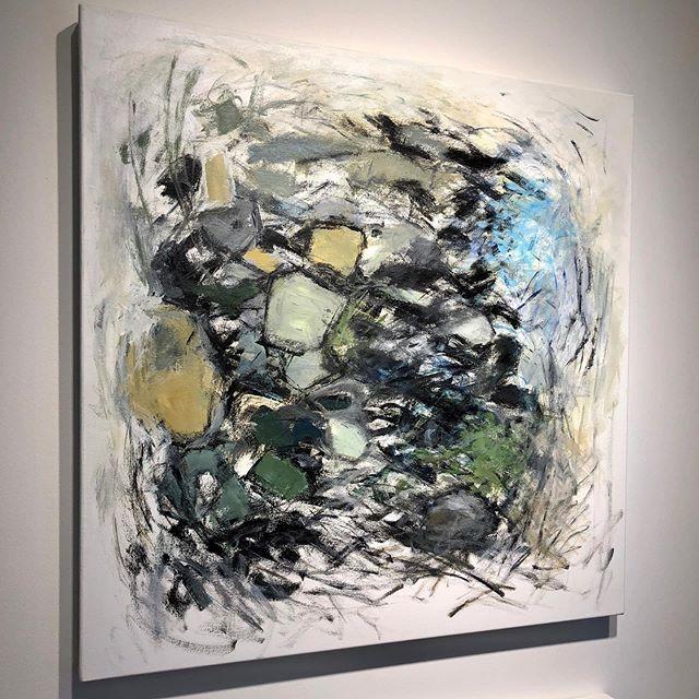 "Recent 30""x30"" acrylic on canvas on my studio wall . . . . . . #abstractart #acrylicpainting #pdx #pdxart #contemporarypainting  #contemporaryart #contemporaryartist #modernart #paintingart #abstractpainting #abstractexpressionism #artlife #kunstwerk #fineart #abstractartist #emergingartist #pnwartist #portlandartist #expressiveart #todaysartreport #artistlife #artofstream #joanmitchell #artforlife #abstract_buff #womenartists #artiststudio #contemporain #womanartist"