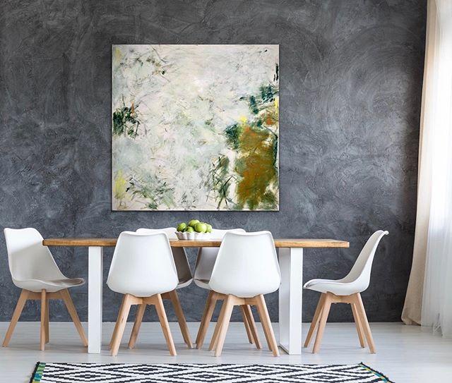 A recent work of mine visualized in this beautiful room setting . . . . . . #acrylicpainting #pdx #pdxart #contemporarypainter #contemporaryartist #modernart #paintingart #abstractpainting #abstractexpressionism #kunstwerk #fineartist #abstractartist #emergingartist #pnwartist #portlandartist #expressiveart #artistlife #joanmitchell #artforlife #abstract_buff #womenartists #artiststudio #konst #abstraktekunst #womanartist #malerei @artroomsapp