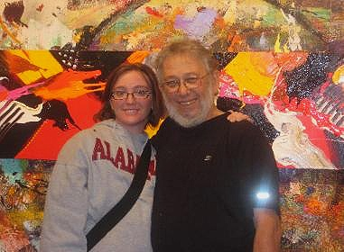 "Me and Jonas at his gallery in Asheville.  ""At its best, that's how powerful abstract art can be. There's nothing like it because it's just pure energy without a subject, without a purpose, without a message - and it's very appealing."" - Jonas Gerard"