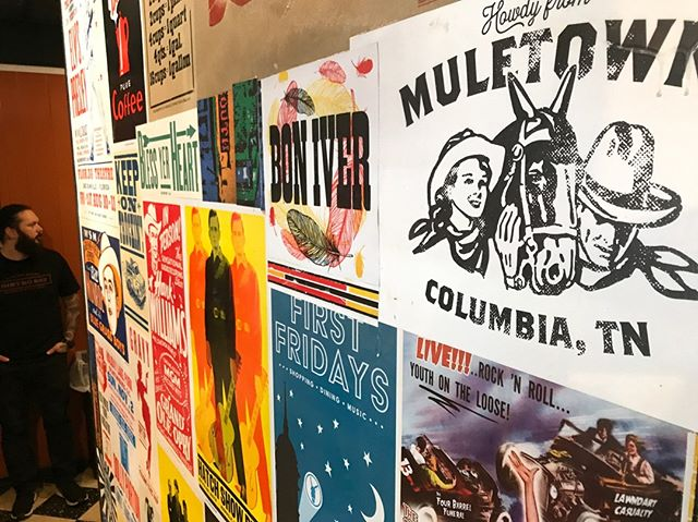 We love our old poster wall. Lots of great history from the Music City and our old stompin grounds here!