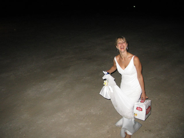 Daria at her wedding
