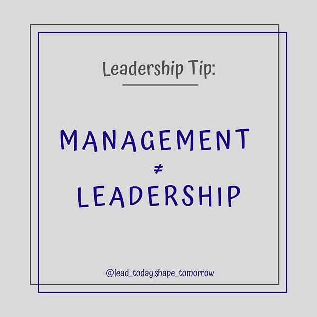 You cannot LEAD people without MANAGING them⠀ ⠀ Say whaaat? What's even the difference though? 🧐 ⠀ Management is a set of processes such as planning, budgeting, structuring and measuring performance. Management is crucial, but it's not leadership.💪⠀ ⠀ Leadership is focused on taking people into the future, about having a vision, igniting that fire in others, about seeing the way and empowering people to get there. ✨⠀ ⠀ Makes sense, right? Management is all the nitty gritty stuff, but leadership is about thoughts and vision and people! Make sure you're doing the right thing at the right time 😉⠀ ⠀ What do you think about Management vs Leadership? Are you better at one than the other? Let me know 😃⠀ ⠀ #Leadership #Management #nittygritty #vision #people #thoughts #leadtheway