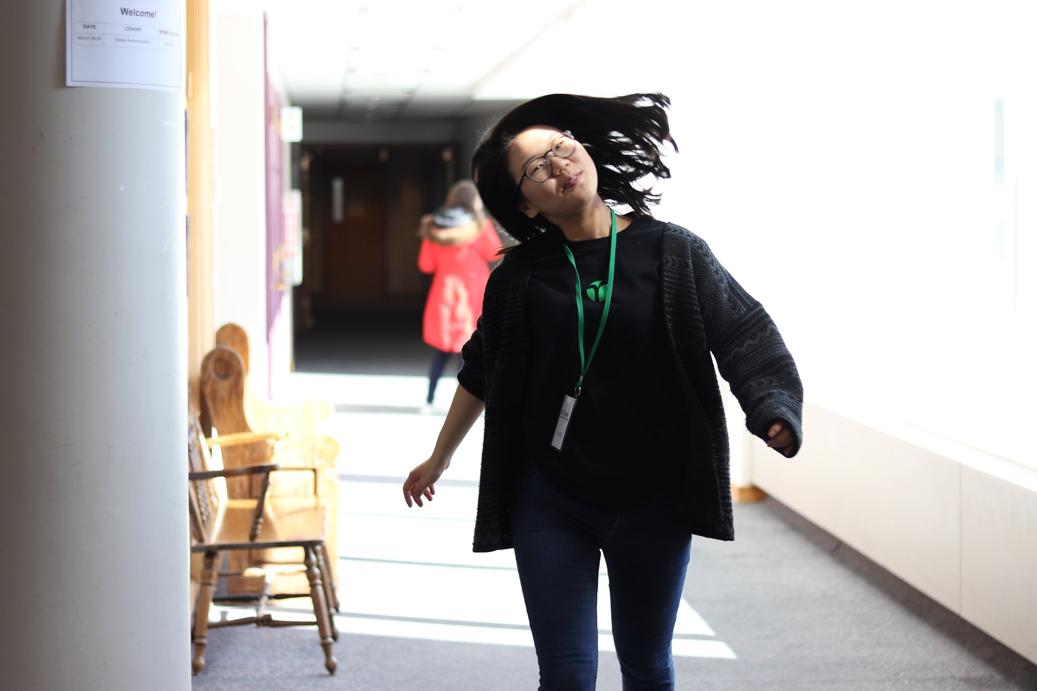 One of our beloved staff members, Tara, in her natural state of joy. (We know. She brightens up our lives too.) (Don't kill us for using this, Tara. We love you!)