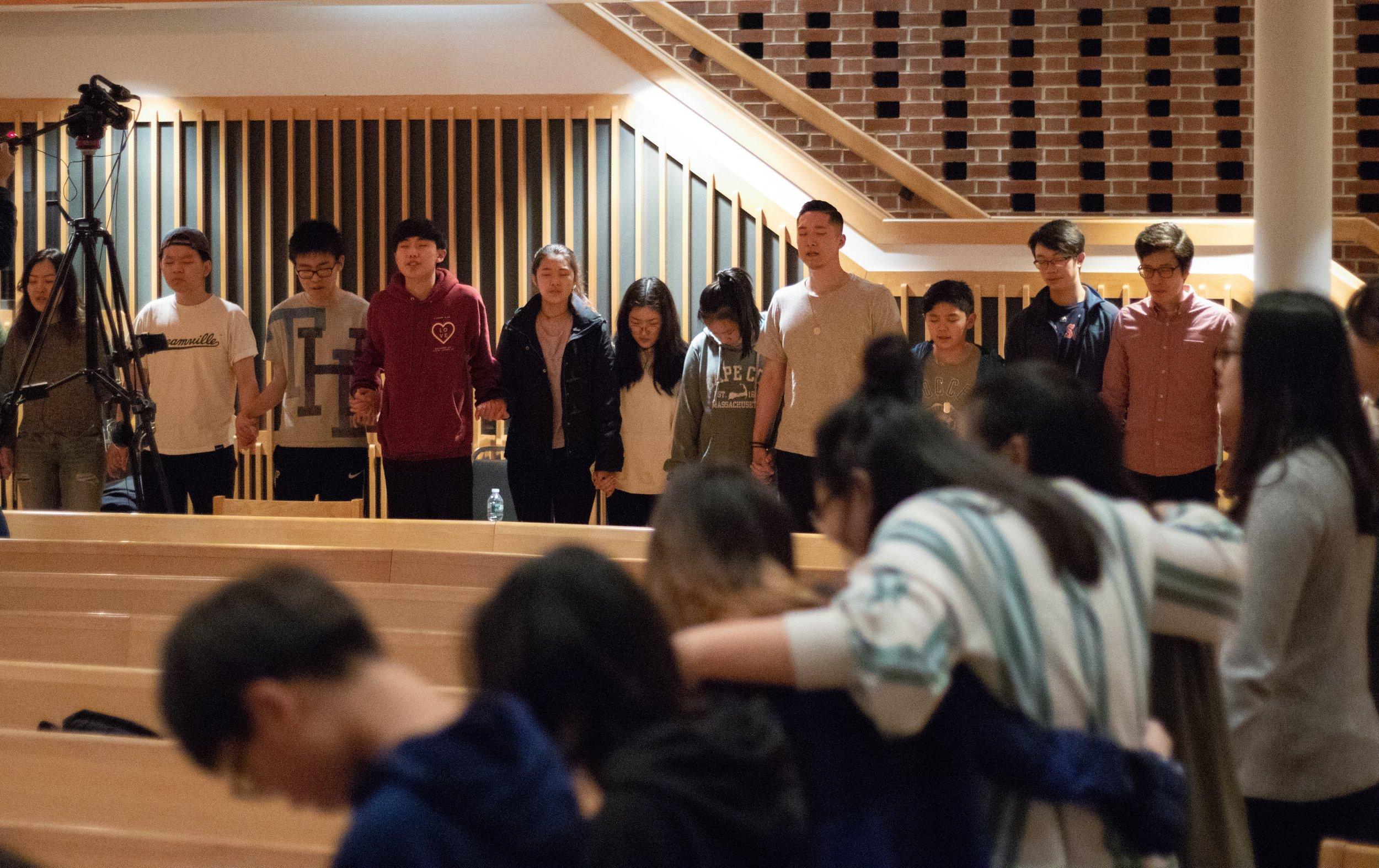 Group Prayer, Praise Night