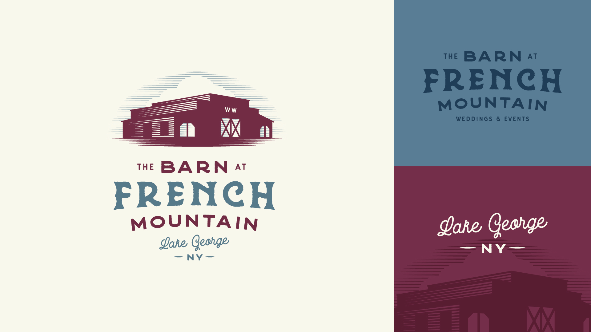 Approved Concept - The final branding concept was chosen for it's realistic illustration of the venue and its expressive typography.