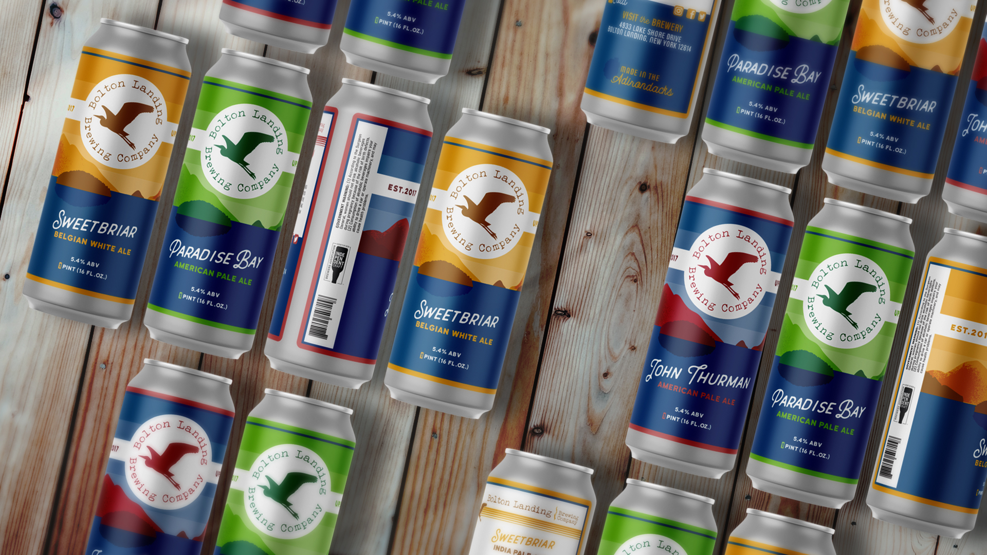 Label Design - In 2018, BLBC ventured into bottling and canning to grow their distribution. We were tapped to design a series of labels that would highlight their unique location and set them apart from the competition.