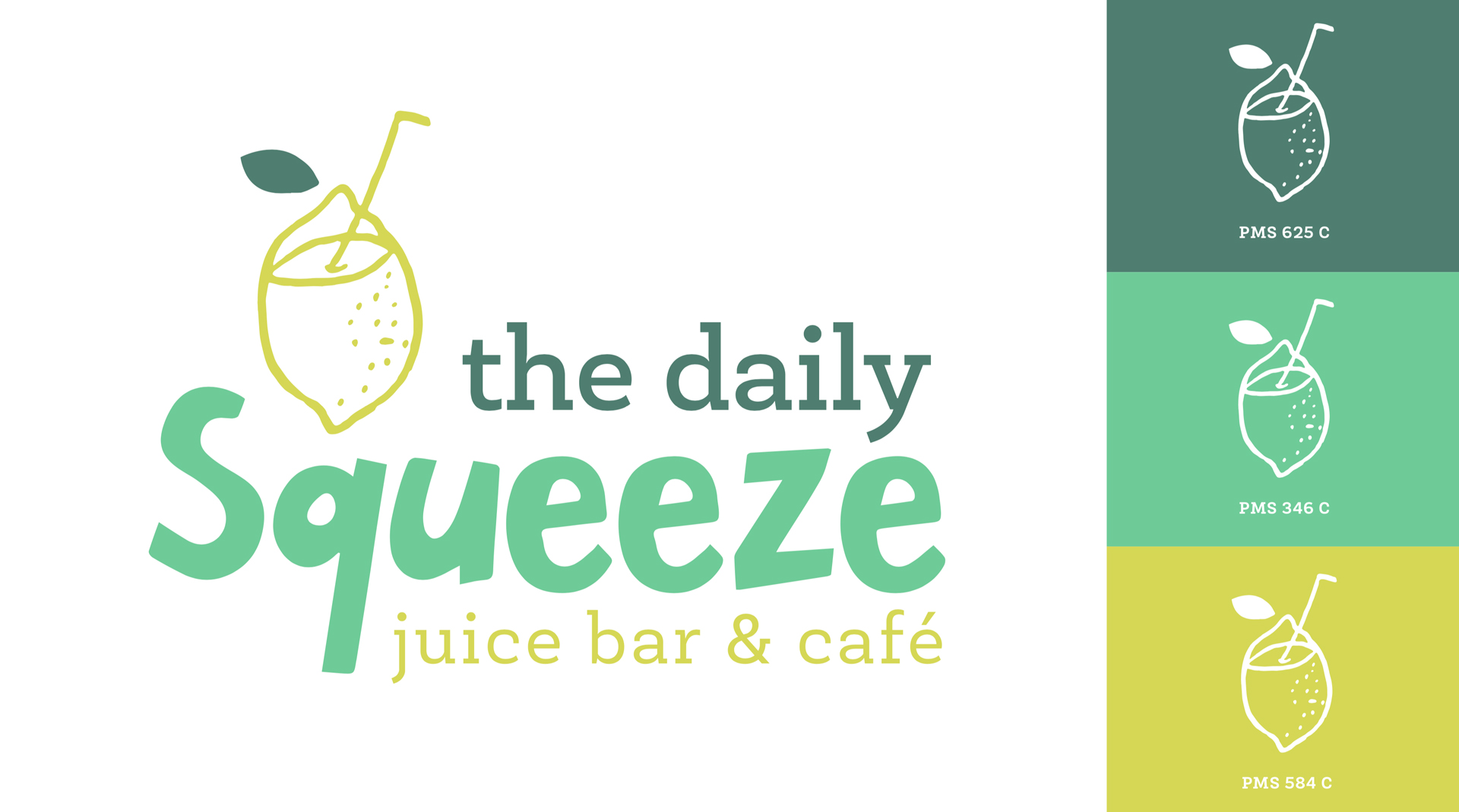 Juicy New Brand - We created a quirky, hand-drawn lemon icon as the basis of the logo that we knew could be used as an element (and pattern!) in other branded materials. Paired with whimsical type and a cheery color palette, this logo has us craving one of Danielle's signature juices (and the Florida sun!)