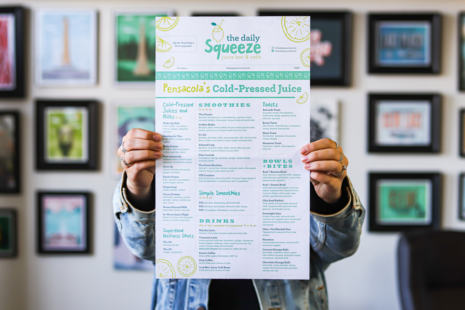 Extra! Extra! - With a design and layout that alludes to a daily newspaper, this menu is a great blend of structure and fun.