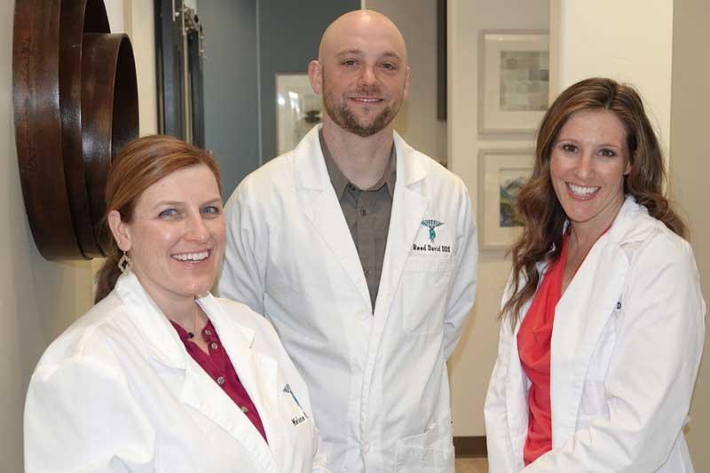 Our Doctors Smiling - Dr. Kassmel, Dr. David & Dr. Albers