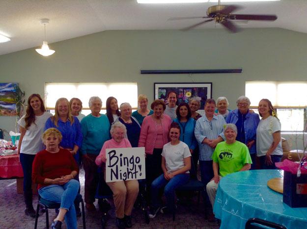 Bingo Night at the Senior Center