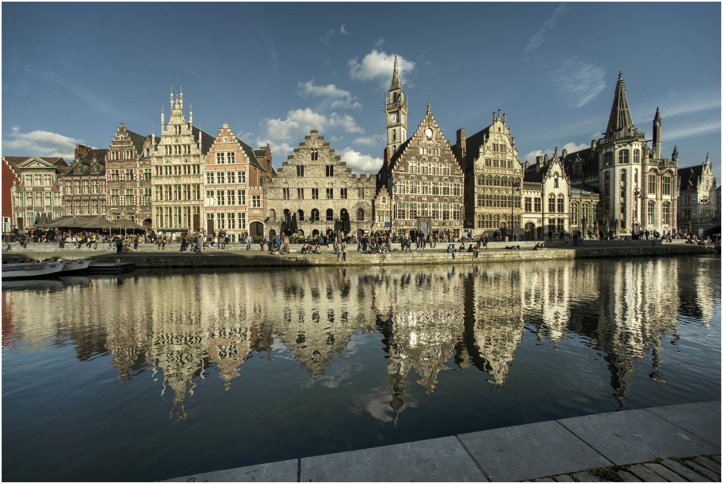 Graslei, one of Ghent's canals - By Michiel Hendryckx -  Source