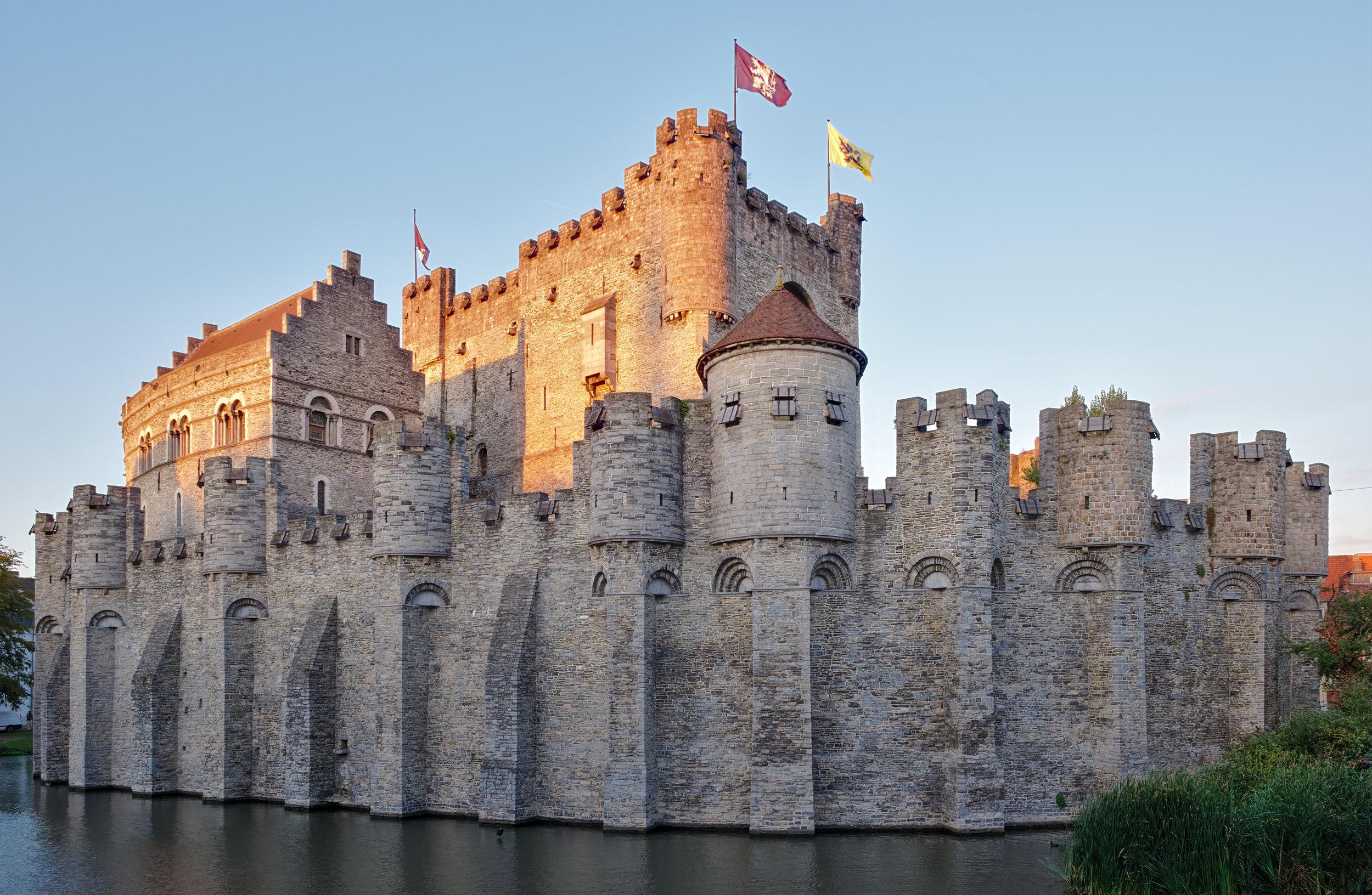 """Gravensteen"", castle of the counts - By Trougnouf (Benoit Brummer) -  Source"