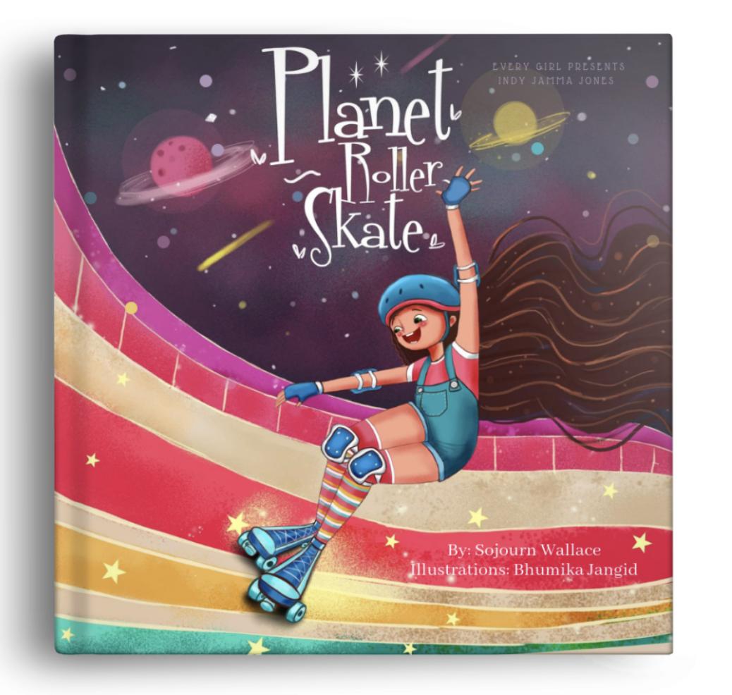 Planet Roller Skate Children's Book