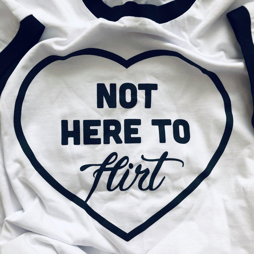 Not Here to Flirt Skatepark Tee