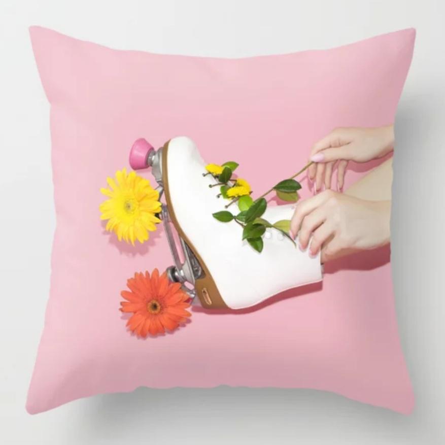 Lizzie Darden Flower Skate Pillow